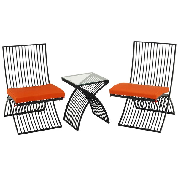 3 Piece Conversation Set with Cushions by Urban Designs