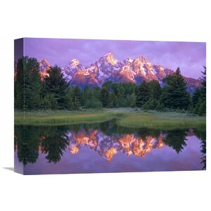 Nature Photographs Grand Tetons at Schwabacher Landing, Grand Teton Np, Wyoming by Tim Fitzharris Photographic Print ... by Global Gallery