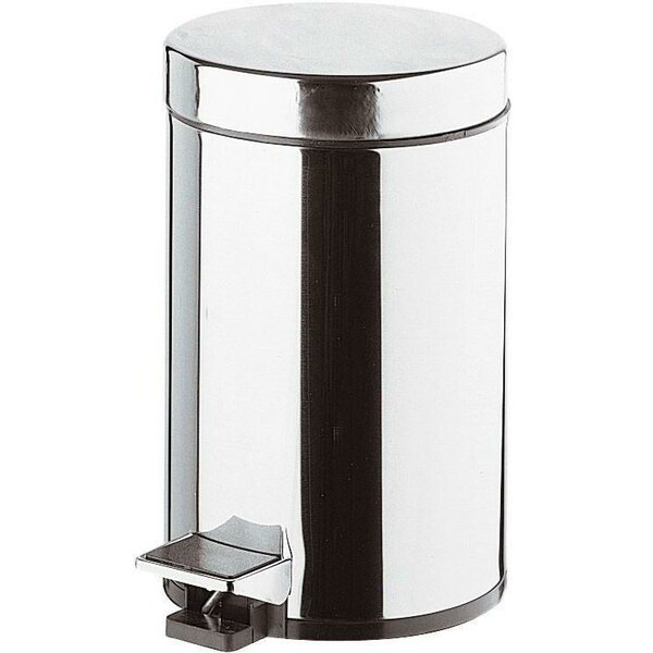 Round Steel Step On Trash Can by AGM Home Store