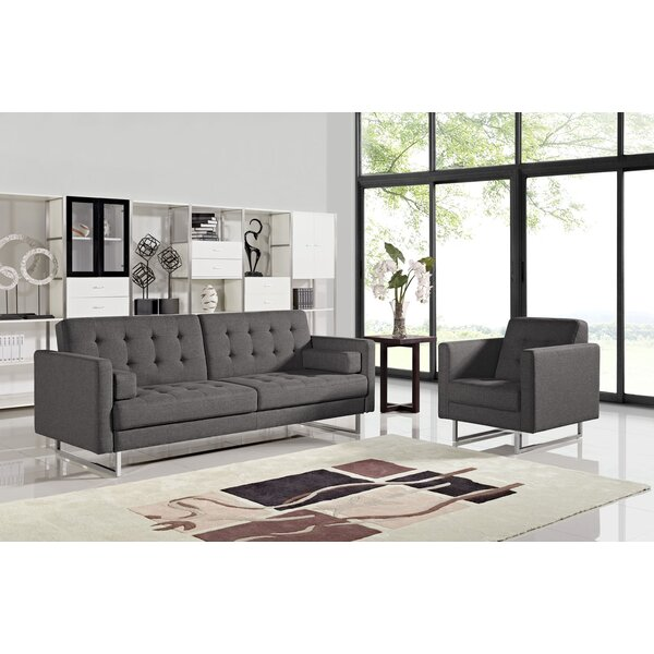 Brokate Sleeper 2 Piece Living Room Set by Orren Ellis