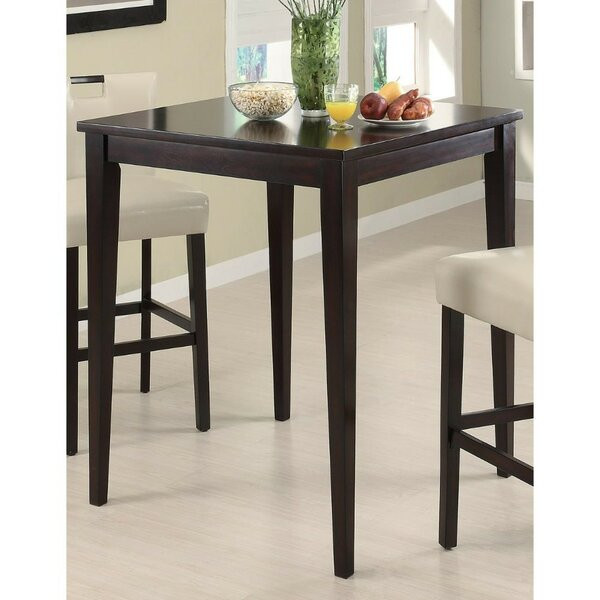 Jemison Transitional Style Wooden Square Pub Table by Winston Porter
