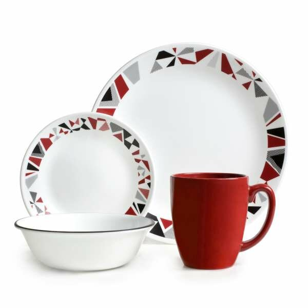 Livingware 16 Piece Dinnerware Set, Service for 4 by Corelle