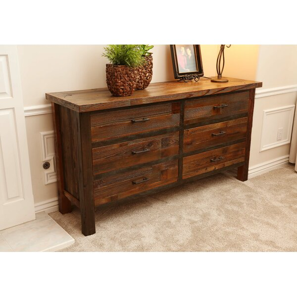 Emsworth 6 Drawer Double Dresser with Mirror by Loon Peak