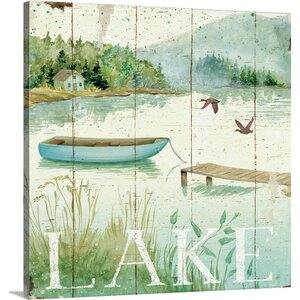 Lakeside II by Daphne Brissonnet Graphic Art on Wrapped Canvas by Great Big Canvas