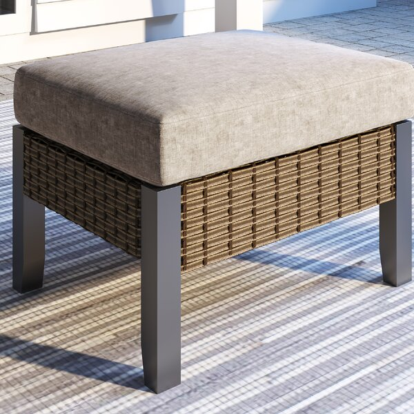Seher Outdoor Ottoman with Cushion by Latitude Run