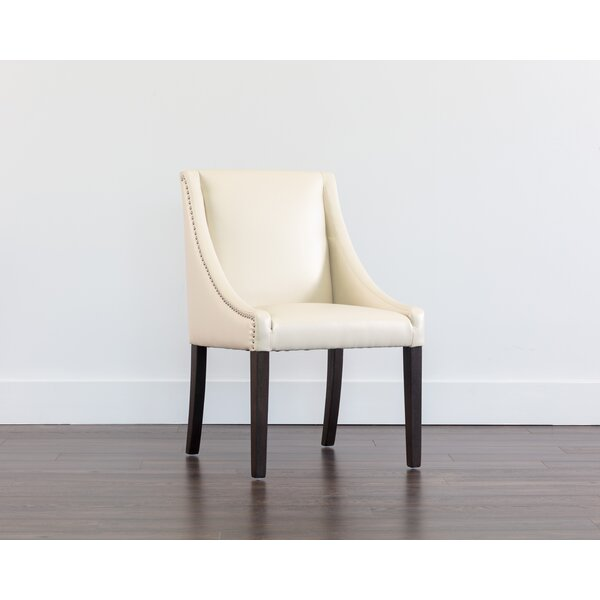 Burgin Upholstered Parsons Chair in Cream by Red Barrel Studio Red Barrel Studio