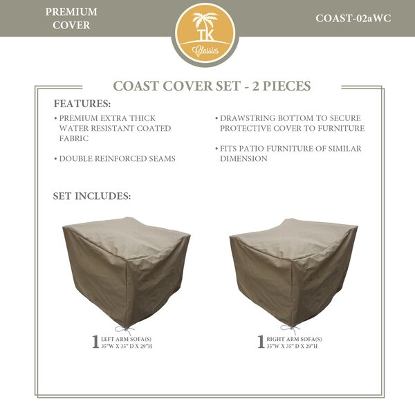 Coast Protective 2 Piece Water Resistant Patio Furniture Cover Set by TK Classics