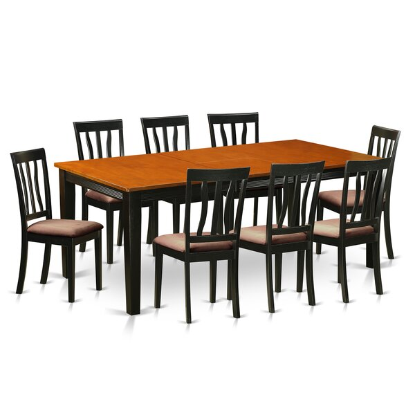 Loraine 9 Piece Solid Wood Dining Set by Red Barrel Studio