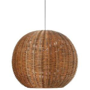 Pirhan Wicker 1-Light Globe Pendant  sc 1 st  AllModern & Modern u0026 Contemporary Woven Basket Pendant Light | AllModern azcodes.com