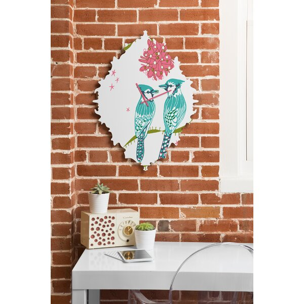 Betsy Olmsted Holiday Birds Wall Clock by Deny Designs