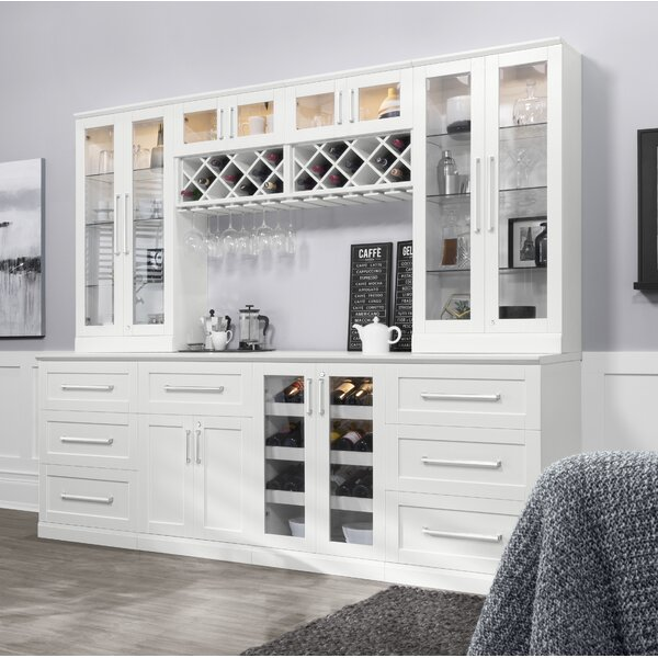 Home Bar Shaker Style Back Bar with Wine Storage by NewAge Products