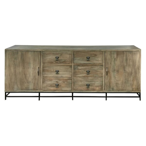 Dickenson 80-inch Wide 6 Drawer Acacia Wood Sideboard by Foundry Select Foundry Select