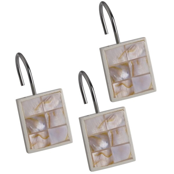 Milano Shower Curtain Hooks (Set of 12) by Creative Scents