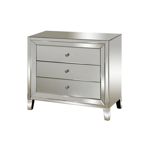 Montalvo Mirrored 3 Drawer Accent Chest by House of Hampton