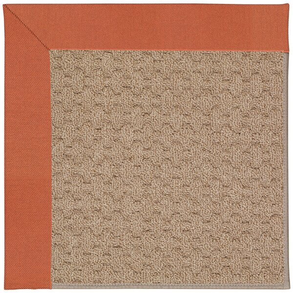 Lisle Machine Tufted Clay/Brown Indoor/Outdoor Area Rug by Longshore Tides