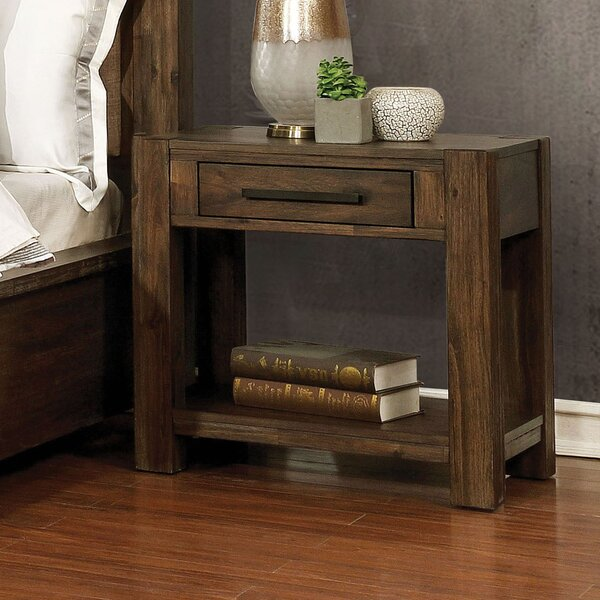 Shellenbarger 1 Drawer Nightstand by Union Rustic