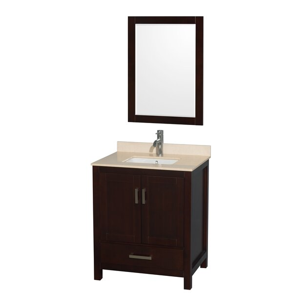 Sheffield 30 Single Espresso Bathroom Vanity Set with Mirror by Wyndham Collection