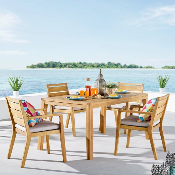 Evelin 5 Pieces Dining Set by Rosecliff Heights