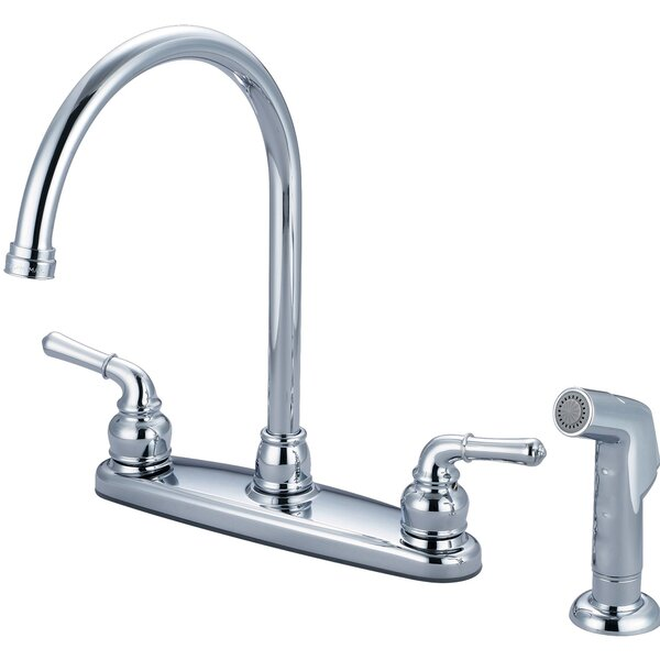 Double Handle Kitchen Faucet with Side Spray by Olympia Faucets
