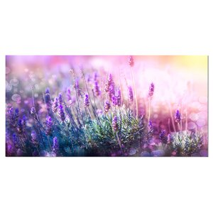 'Growing and Blooming Lavender' Graphic Art on Wrapped Canvas by Design Art