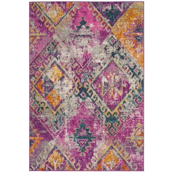 Esparza Contemporary Fuchsia Area Rug by Bungalow Rose