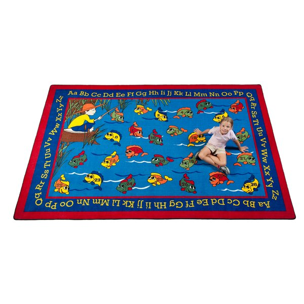 Lazy River Fish Kids Rug by Kid Carpet