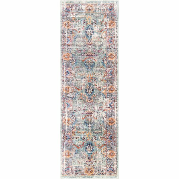 Pennyfield Blue/Orange Area Rug by Bungalow Rose