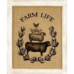 Plummer Farm Life Framed Graphic Art by August Grove