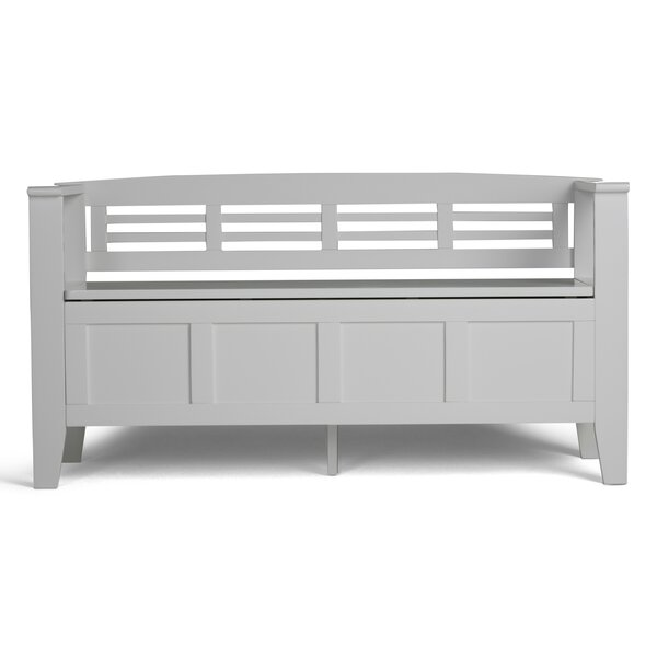 Glossop Wood Storage Bench by Three Posts