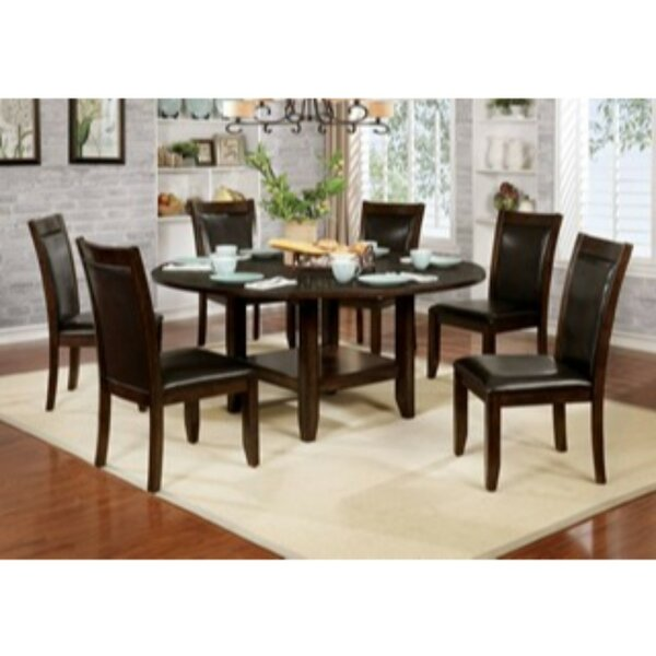 Mahle 7 Piece Solid Wood Dining Set by Millwood Pines