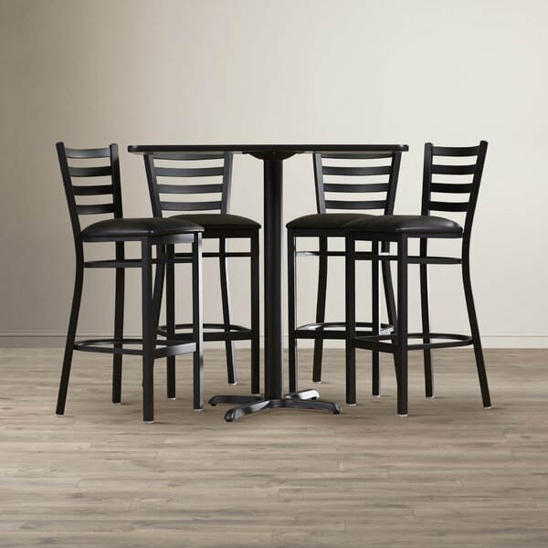 Rylee 5 Piece Pub Table Set by Latitude Run
