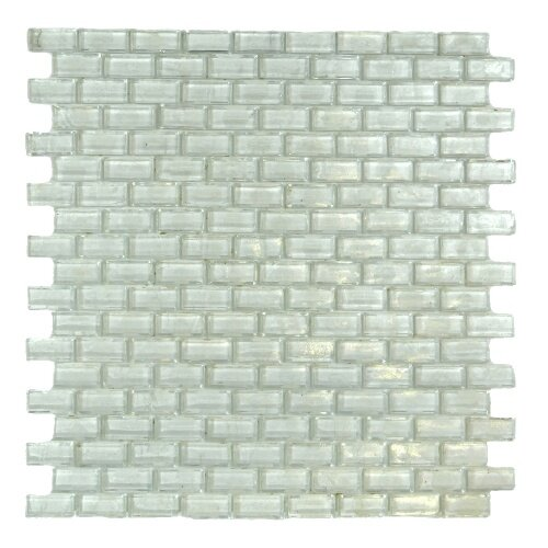 LEED Amber 0.63 x 1.25 Glass Mosaic Tile in White Lotus by Abolos