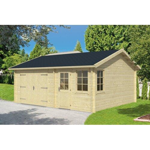 6 m x 5 m Garage Northstate Garten Living Dach: Sechseckig Schwarz  Fundament: Ohne Fundament   Baumarkt > Garagen und Carports   Garten Living