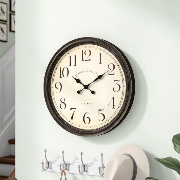 Oversized Siglerville 24.5 Wall Clock by Darby Home Co