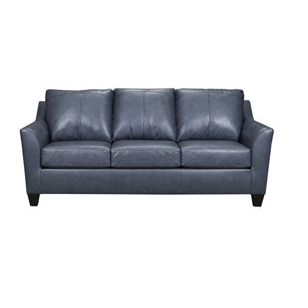 Cyrus Leather Sofa by Latitude Run Latitude Run