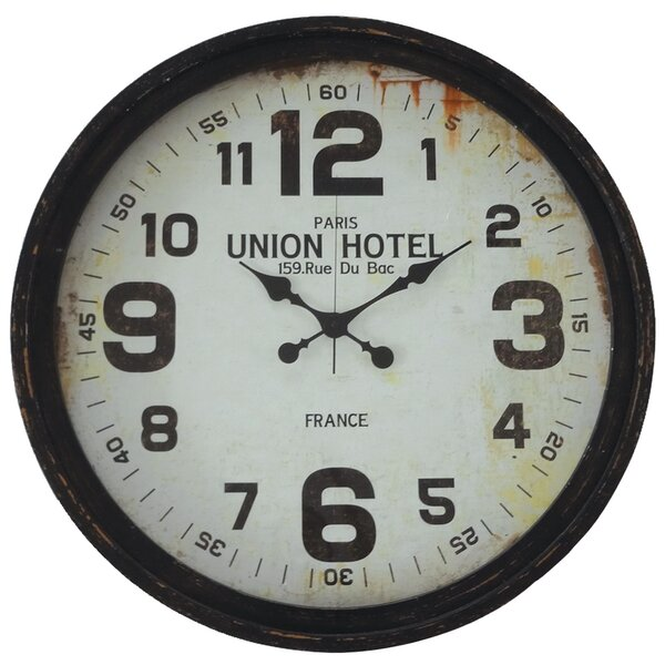 Oversized Round Union Hotel 30.75 Wall Clock by 17 Stories
