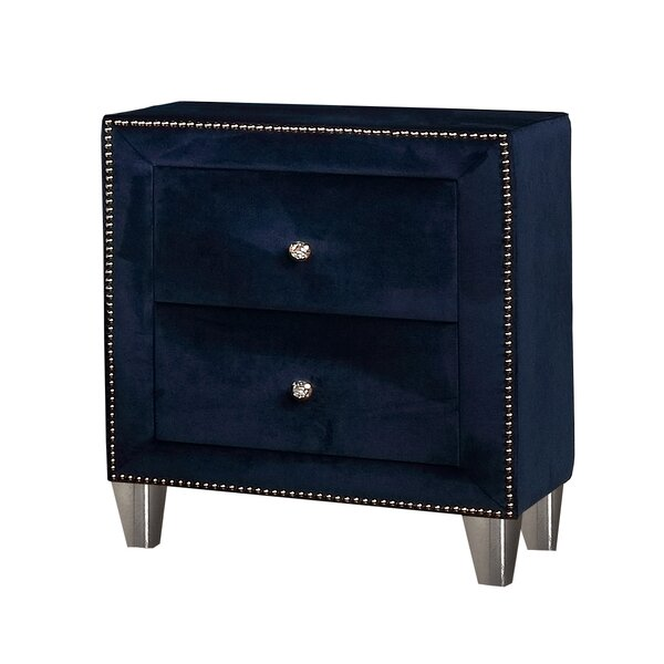 Vidal 2 Drawer Night Stand by Rosdorf Park