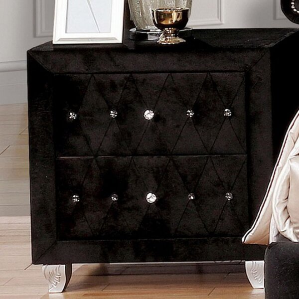 Russ 2 Drawer Nightstand By Mercer41 by Mercer41 2020 Coupon