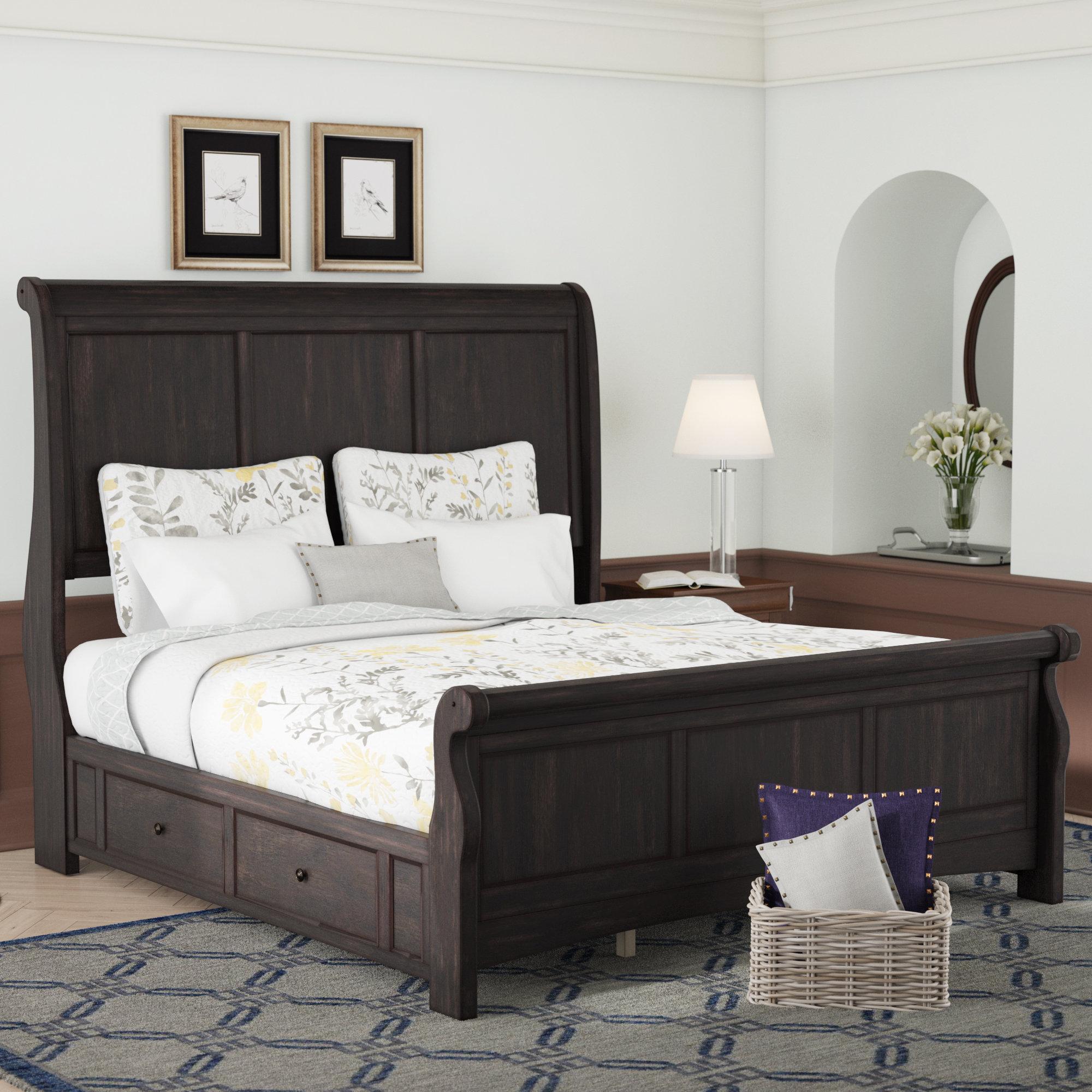 - Darby Home Co Chehalis Storage Sleigh Bed & Reviews Wayfair