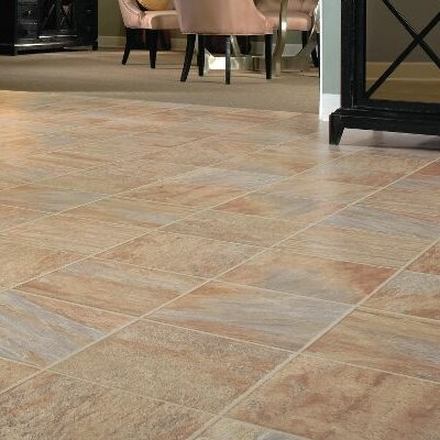 GardenStone 12 x 48 x 8mm Tile Laminate Flooring in Monzone by Bruce Flooring