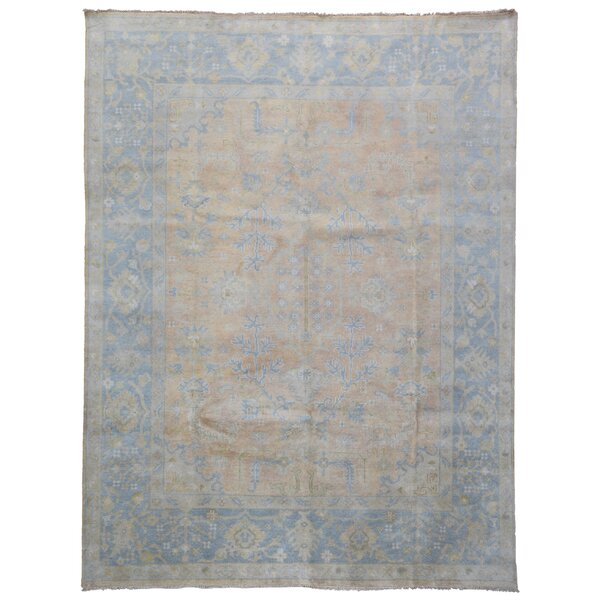 One-of-a-Kind Finadeni Oriental Handspun Wool Brown/Blue Area Rug by Isabelline