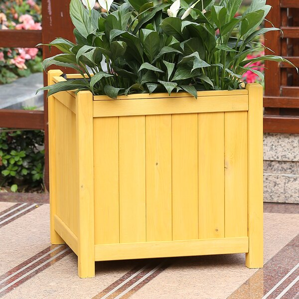 Chartier Square Wood Planter Box by Highland Dunes