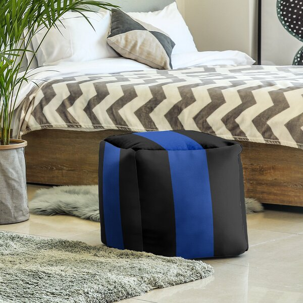 Kentucky Stripes Cube Ottoman By East Urban Home