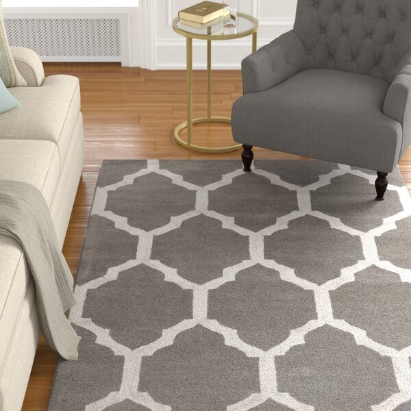 Shannon Hand-Tufted Charcoal/Medium Gray Area Rug by Alcott Hill
