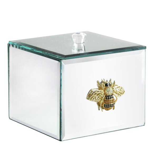 Chelvey Bumble Bee Brooch Mirror Cotton Tissue Box Cover by House of Hampton