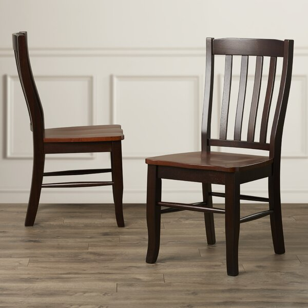 Calvert Solid Wood Dining Chair (Set of 2) by Alcott Hill