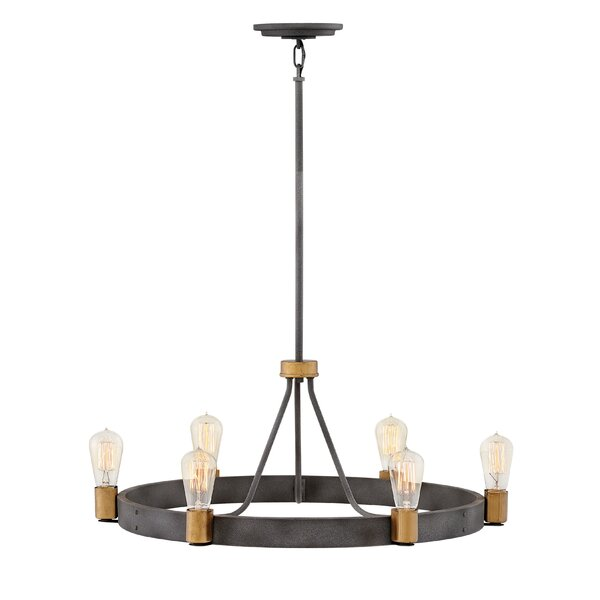 Ansorge 6-Light Candle Style Wagon Wheel Chandelier By Williston Forge