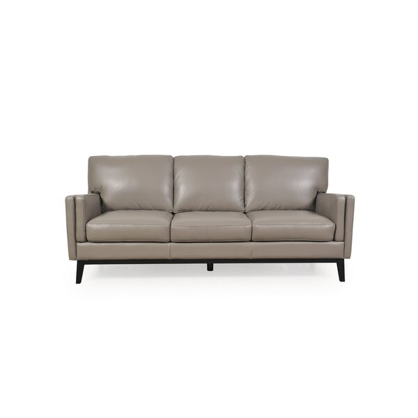 Popular Brand Lanoue Leather Sofa by Brayden Studio by Brayden Studio