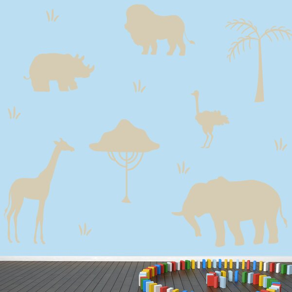 African Safari Animals Wall Decal by Zoomie Kids