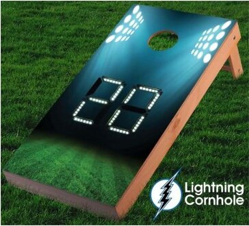 Electronic Scoring Stadium Cornhole Board by Lightning Cornhole